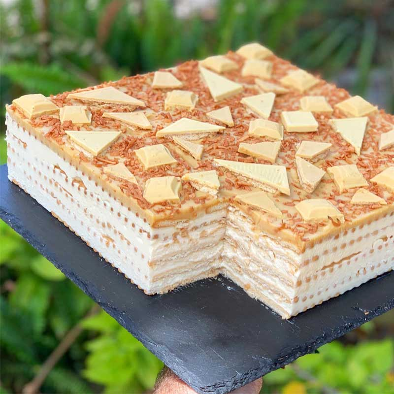 עוגת ביסקוויטים בלונדי