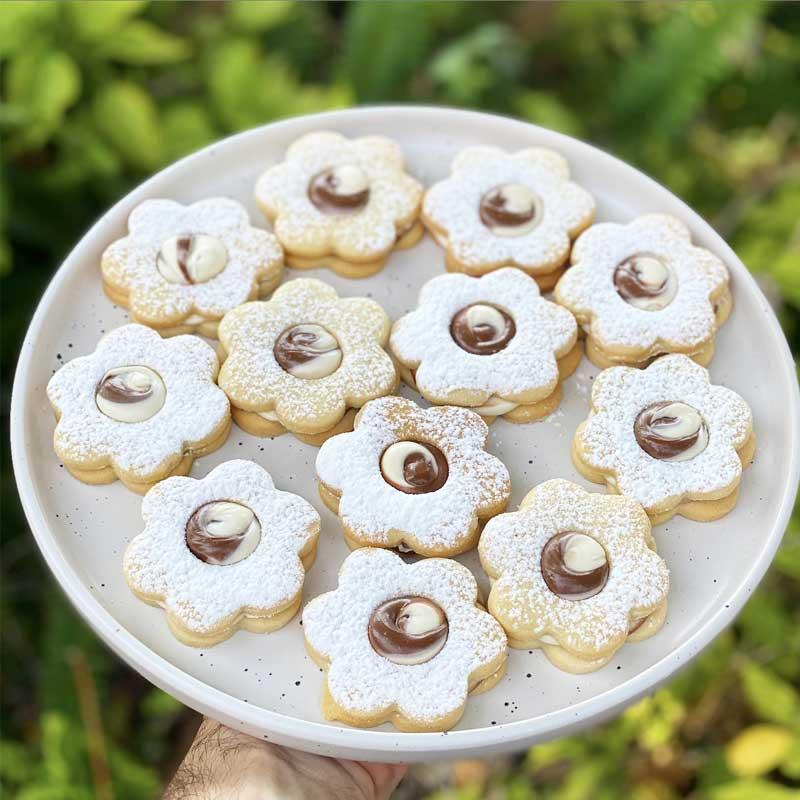 עוגיות פרח חמאה