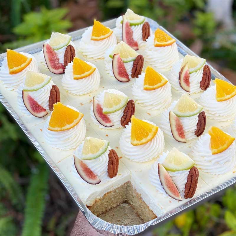 עוגת תפוזים וקרם