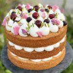 עוגת שכבות פירות יער ומסקרפונה