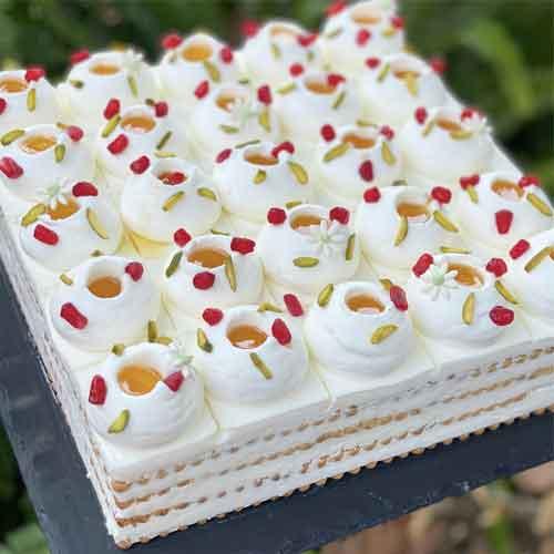 עוגת ביסקוויטים יוגורט דבש
