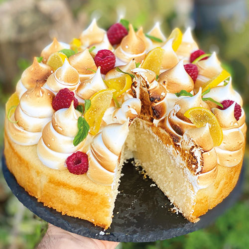 עוגת סולת לימון ומרנג