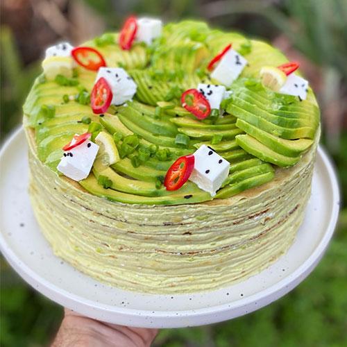 עוגת קרפים אבוקדו